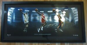 LeBron James Signed Autographed 36X15 Photo 10th Anniversary Transition /50 UDA