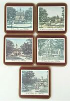 Set of 5 Vintage Pimpernel Coasters Colonial Williamsburg ~ Made in England