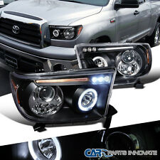 2007-2013 Toyota Tundra Sequoia Replacement Black LED Halo Projector Headlights