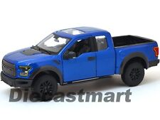 MAISTO 31266 2017 FORD RAPTOR PICKUP TRUCK BLUE 1:24 DIECAST CAR MODEL