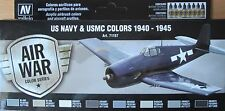 Vallejo Model Air val71157 WW2 US NAVY + USMC aeromobili 8 Colori Pittura Set