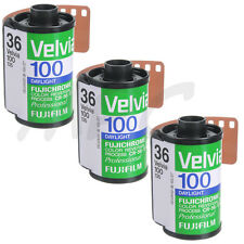 3 Roll Fuji RVP 135-36 Fujichrome Velvia 100 Pro Color Slide Film - FRESH DATED