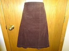 NEW MEN'S BASIC EDITIONS BROWN CORDUROY SKIRT SIZE L MSP $14.99