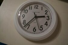 Small Wall Clock - Battery Operated Round Easy to Read