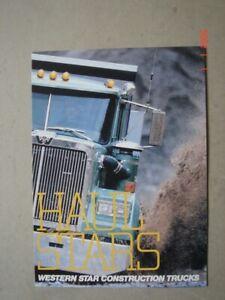 WESTERN STAR  Construction trucks - Baufahrzeuge  brochure / Prospekt  1984