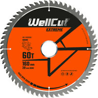 WellCut TCT Saw Blade 160mm x 60T x 20mm Bore Suitable For Festool - TS55