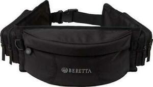 Beretta Fanny Pack Design 3-Compartment Black Nylon Pistol Belt Pouch Organizer