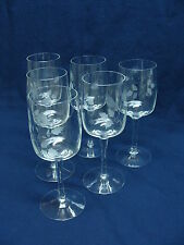 """Toscany Cut Etched Crystal, Pattern Toy13,  6 Water Wine Glasses Goblets. 7 5/8"""""""