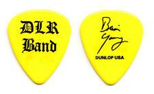 David Lee Roth Brian Young Signature Yellow Guitar Pick - 2002 Tour