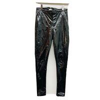 Fashion Nova Cardi B Collab Black Patent Skinny Pants Size Small