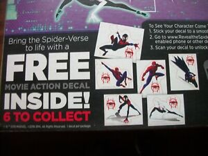 Spider-Man Into The Spider-Verse Movie Action Decals General Mills Cereal CHOICE