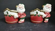 Fitz & Floyd Old World Elf Candle Holders 1990 Set of 2