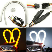 2pcs 60cm Flexible Car Soft Tube LED Strip Light DRL Sequential Turn Signal