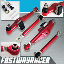 Front Adjustable Lower Control Arm Arms W/ Tension Rod For 240SX S13 180SX 300ZX