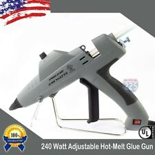 Full Size Glue Gun w Adjustable Temperature Control & Flow 240W + 20 Glue Stick