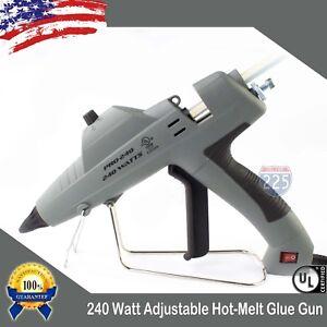 Full Size Glue Gun w Adjustable Temperature & Flow Control 240W + 20 Glue Stick
