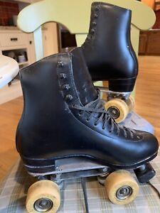 Vintage Roller Skates Riedell Boots Mounted Snyder Super Deluxe Men's 8
