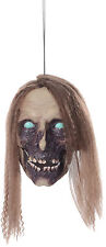 HALLOWEEN ANIMATED TALKING UNDEAD CATHY HEAD CEMETARY GRAVEYARD DECORATION PROP