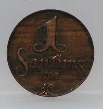 Letland - Latvia 1 Santims 1928 - KM# 1