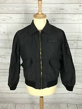 Mens SCHOTT Flying Jacket - Small - Navy - 100% Nylon - Quilted -Great Condition