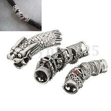 3pcs Alloy Antique Dragon Dreadlock Bead Hair Beads Rings Jewelry Accessory