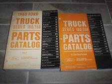 1980 Ford F100 F250 F350 F-Series Pickup Truck Parts Catalog Manual Diesel Gas
