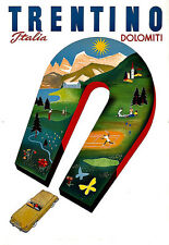 ART AD Trentin Italie Dolomiti voyage DECO Poster Print