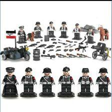 WW2 Deutsche Soldaten Figuren mit Zubehör Military Sets für Lego geeignet.