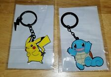 Lot of BRAND NEW 8 Pokemon Items - Keychains, Stickers, & Buttons