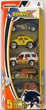 NEW Sonic X Matchbox 5 Car Pack Set Xterra VW Beetle Baja Bug Suburban Piranha