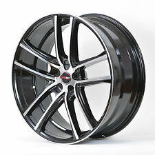 4 GWG Wheels 18 inch Black Machined ZERO Rims fits 5x112 AUDI A6 PRESTIGE 2012