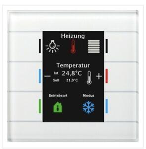 MDT BE-GT2TW.01 R3.4 KNX Glastaster II Smart Farbdisplay Temperatursensor Weiß