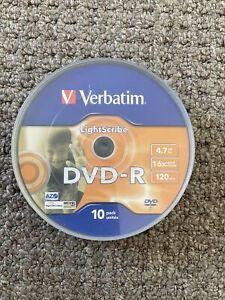 Verbatim LightScribe DVD-R - Recordable DVDs x 9