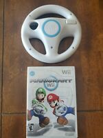 Mario Kart ( Nintendo Wii, 2008) tested works w wheel complete READ racing Mario