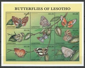 PK290 LESOTHO FLORA & FAUNA BUTTERFLIES INSECTS KB MNH STAMPS