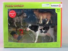 Schleich Farm World Starter SET cow donkey rooster sheep  42385