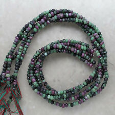 Ruby Zoisite Faceted Rondelle 4mm Semi-Precious Gemstone