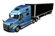 VOLVO VNL 760 W/ 53' DRY GOODS TRAILER BLUE & BLACK 1/64 DCP/FIRST GEAR 60-0644