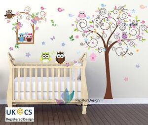 Bird/ Owl /SwingTree/Flower/Butterfly Animal Nursery baby wall sticker Art Decal