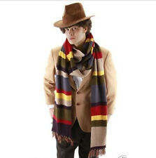 Dr Doctor Who Fourth 4th Tom Baker Striped Deluxe Scarf Cosplay Gift
