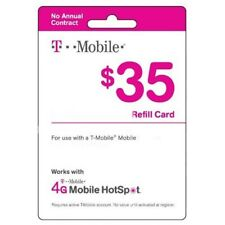 T-Mobile Prepaid $35 Refill Top-Up Prepaid Card / RECHARGE DIRECT