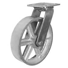 1 Pack 8 Vintage Caster Wheels Swivel Plate Grey Silver Iron Casters No Brake