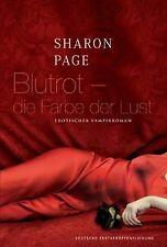 Blutrot - die Farbe der Lust von Sharon Page   Buch   Zustand gut