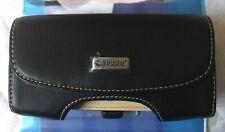 Krusell Horizon Black Leather Universal Case for Mobile Size L - Multidapt Clip.
