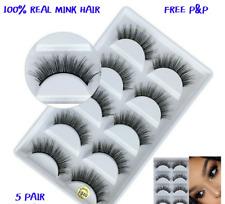 NEW 5Pair 3D Mink False Eyelashes Wispy Cross Long Thick Soft Fake Eye Lashes840