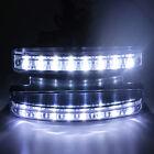 12V DC Car Super White Daytime Running Light 8 LED DRL Daylight Head Lamps 2 pcs