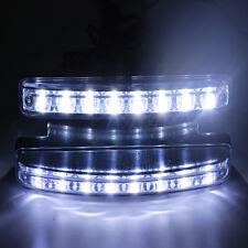 2x 12V DC 8 LED DRL Car Super White Daytime Running Light Daylight Head Lamp NEW