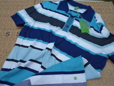 NEW HUGO BOSS DESIGNER MENS STRIPED GOLF POLO CLUB BAG SUIT T-SHIRT small S