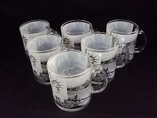 6 each Glass Coffee Mug New York City 10 oz  B&W Photographs ZIZO 60127