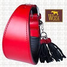 WOZA Premium Windhund Halsband Vollleder Rindslederhalsband Soft Rindnappa  W599